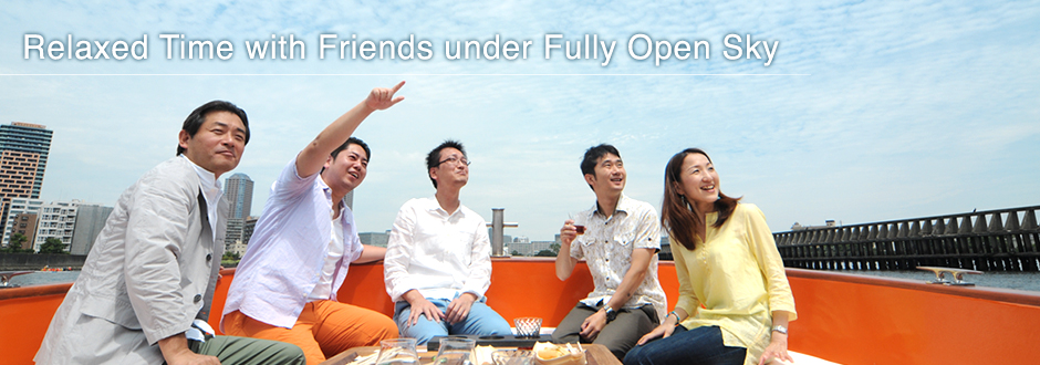 Relaxed Time with Friends under Fully Open Sky